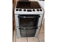 AA ENERGY RATED Zanussi 60cm, light silver electric cooker WARRANTY GIVEN