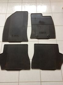 Ford Fiesta, set of 4 black rubber car mats, for a 2007 registration model, £10 ono.