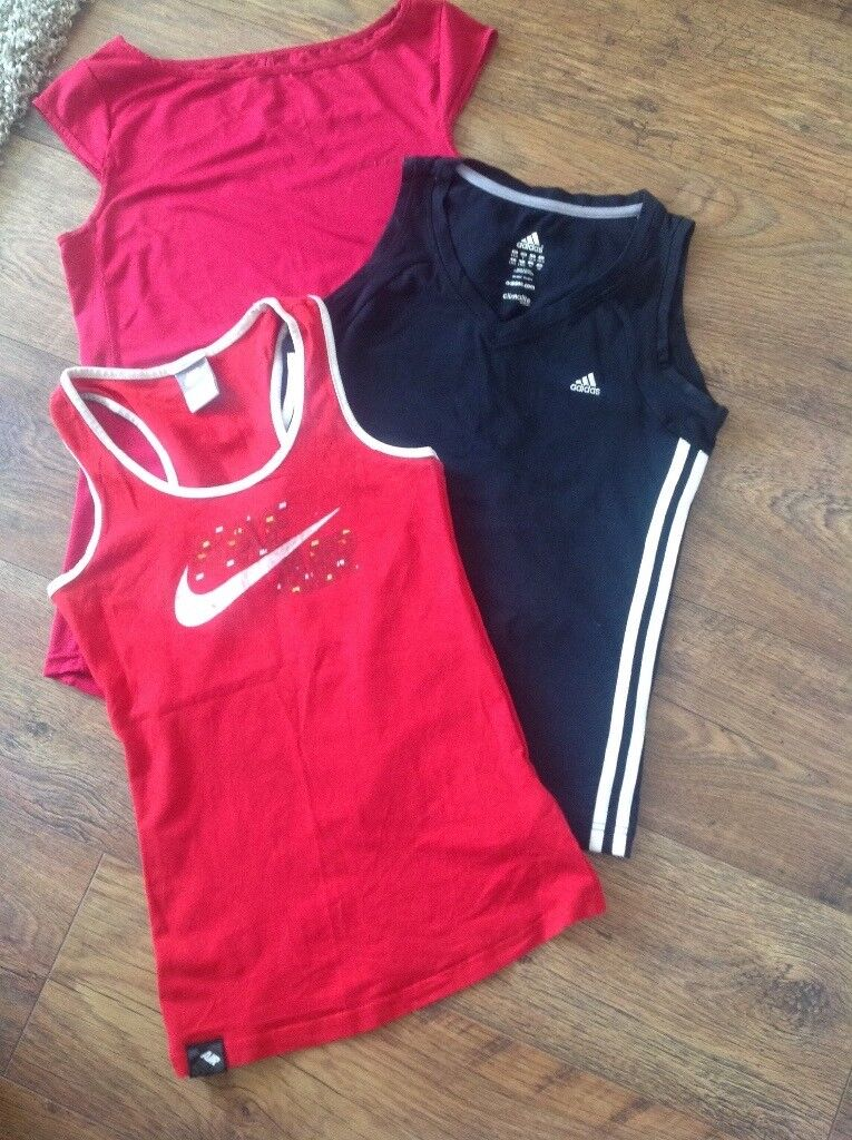 Ladies Sports/Gym tops. Adidas, Nike