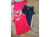 Ladies Sports/Gym tops. Adidas, Nike