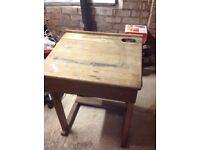 Antique childrens school desk