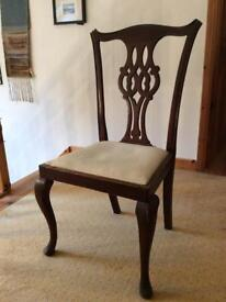 4 x Antique Mahogany Dinning Chairs - offers considered
