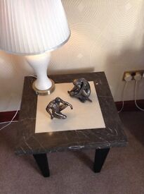 Beautiful solid marble lamp table