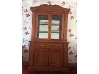 Display cabinet, dining table,tv cabinet and entertainment centre Harvey's furniture