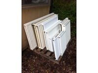 Central heating radiators various sizes