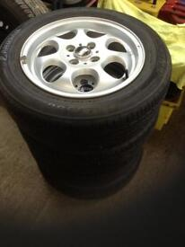 Mini one alloys with tires £110