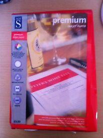 Pack of A4 Inkjet Paper Premium 100 gsm