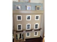 8 room lit Victorian Dolls house, 1000's of hours decorating, all furniture and fittings included