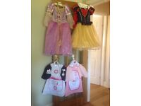 Disney store Snow White, Rapunzel and 2 ELC nurse dress up outfits for girls age 3-5