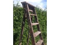 "Vintage stepladders. Up-scale possibilities. Probably from 1930s or '40s. 6'11"" (210cm) tall"