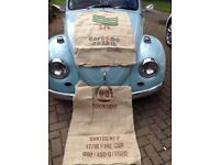 Coffee bean hessian sacks. Used but in good condition.