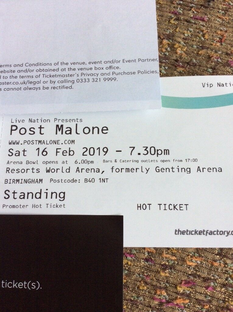 ONE POST MALONE VIP STANDING TICKET | in Solihull, West Midlands | Gumtree