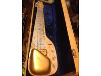 Vintage steel lap guitar Tahiti made by WIZZARD