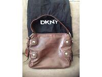 Ladies brown leather DKNY Handbag