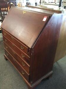 Antique Refinished Mahogany Secretary