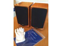 Quad 11L2 speakers (pair) in beautiful cherry wood finish - boxed and in excellent condition