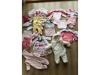 Baby Girls Clothing Bundle - 0-3 Months