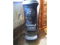 Antique Victorian Cast Iron Tortoise Stove Woodburner JONOLIVA No'3 Fireplace for Refurbishment