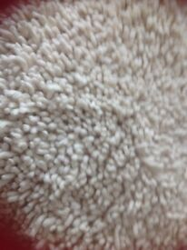 Large thick pile cream rug