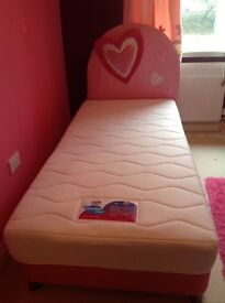Child's single bed with mattress in excellent condition