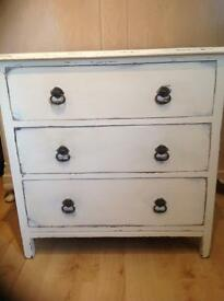 Shabby Chic/Distressed three drawers table