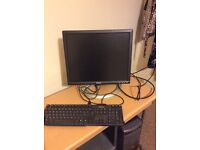 Fully functioning computer with a keyboard.