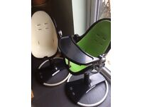 Bloom Fresco High Chairs Black, white pad available suitable from birth