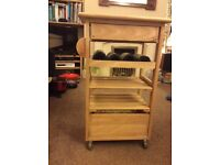 Wooden kitchen island cart. Excellent condition