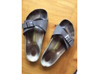 Size 37 Brown Leather Birkenstock Sandals