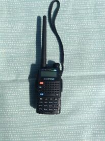 Handheld amateur radio transceiver with car arial
