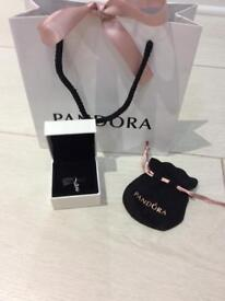 Pandora genuine silver love dangle charm