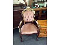 Vintage French style chair with arms