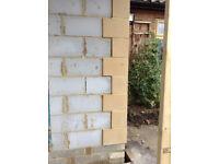 NEW Stone Quoins Bricks + 3 bullseye stone windows rrp:£1800 (have receipt)