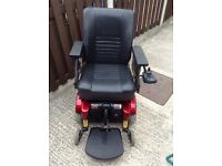 PRIDE JAZZY 1121 ELECTRIC WHEELCHAIR WITH SUSPENSION & USER MANUAL EXCELLENT CONDITION