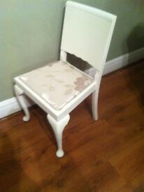 cute Shabby Chic louise Rustic Vintage nursing/reading -Bedroom Hall Chair-upcycled
