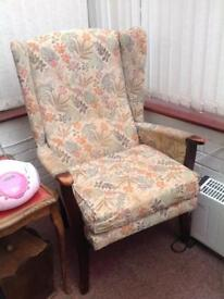 High back wing chair ideal for a refurbish project
