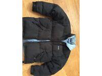 Men's toggi coat,down feather,black size large