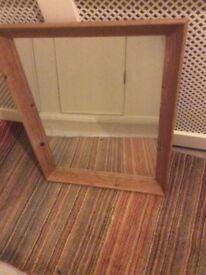 Pine mirror unvarnished