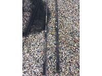 Carp fishing rods, nets and rod bag