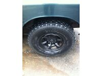 Atk02 black jap wheels with tyres bfs Goodrich all terrain off road