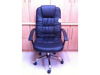 Brand new black faux leather office chair