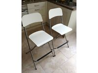 Pair ikea franklin foldable stools £30 for the pair.