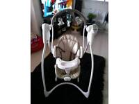 Baby swing, baby bouncer, baby feeder