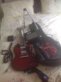 Encore Sg Guitar with Extras