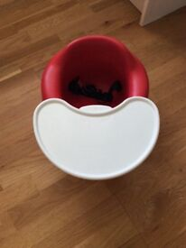 Bumbo seat with tray (red)