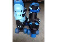 adjustable quad roller skates blue size 13-3