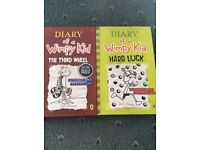 two diary wimpy kid books