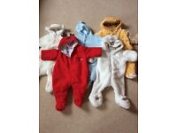 Pram snow suits , suitable from 0-6 months