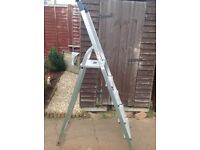 HAILO 8925 HOBBYSTEP. 5 step ALUMINIUM LADDER now is the time to sort out all the odd jobs BARGIN