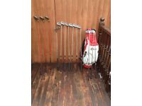 Wilson golf clubs and trolley